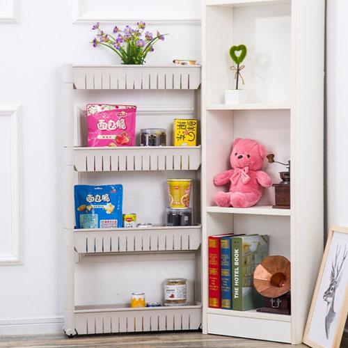 3 Layers plastic cracks shelf storage corner rack organizer